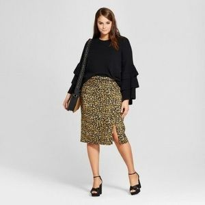 Who What Wear leopard print plus size skirt